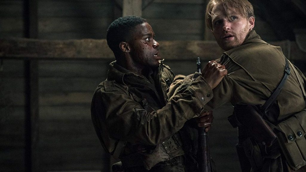 Javan Adepo and Wyatt Russell in Overlord
